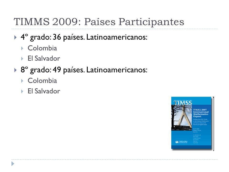 TIMMS 2009: Países Participantes