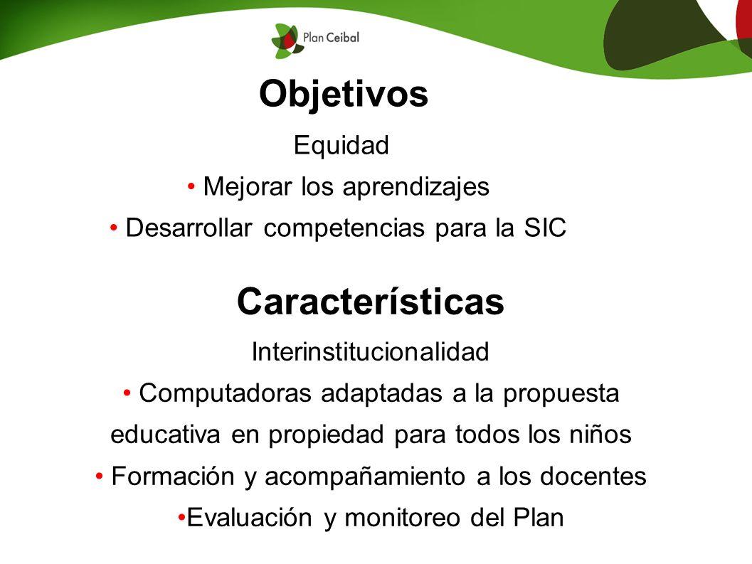 Objetivos Características Equidad Mejorar los aprendizajes