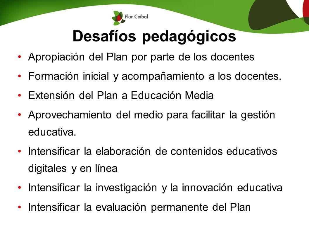 Desafíos pedagógicos Apropiación del Plan por parte de los docentes