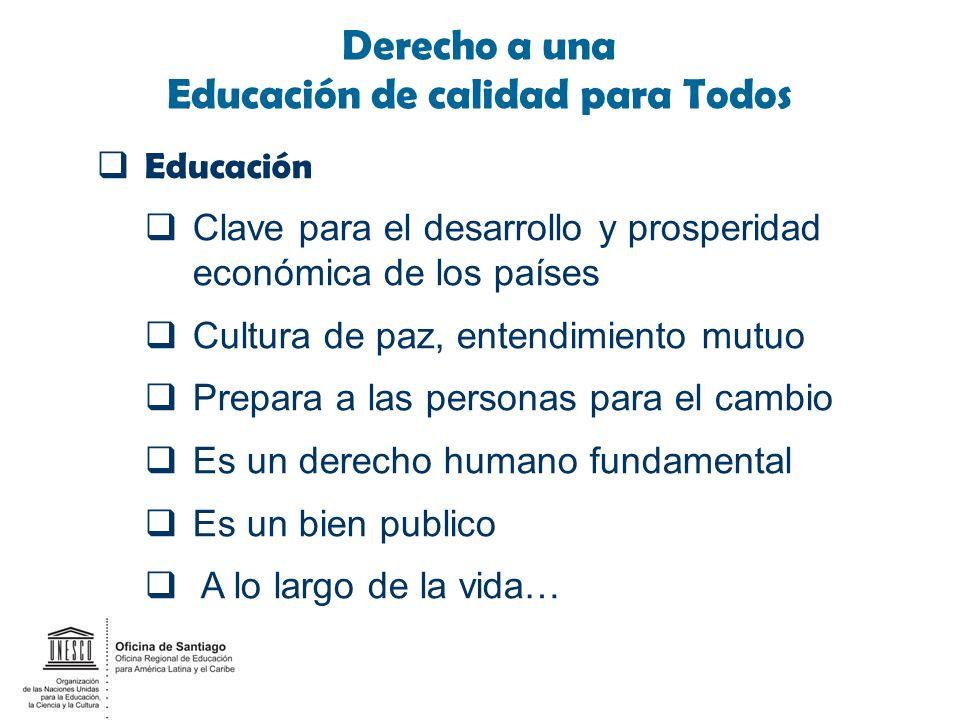 Derecho a una Educación de calidad para Todos