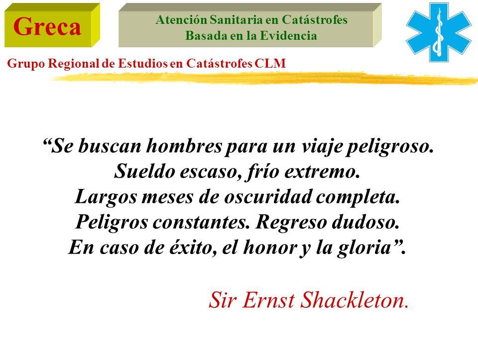 Sir Ernst Shackleton. Se buscan hombres para un viaje peligroso.