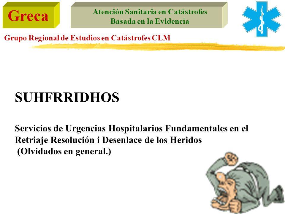 SUHFRRIDHOS Servicios de Urgencias Hospitalarios Fundamentales en el Retriaje Resolución i Desenlace de los Heridos.