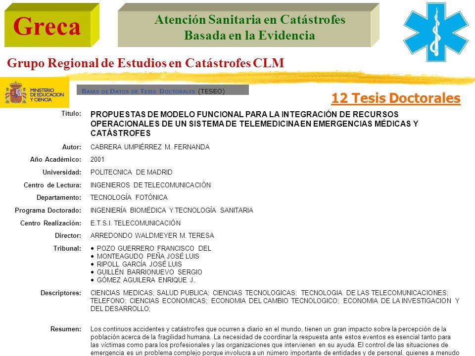 BASES DE DATOS DE TESIS DOCTORALES (TESEO)