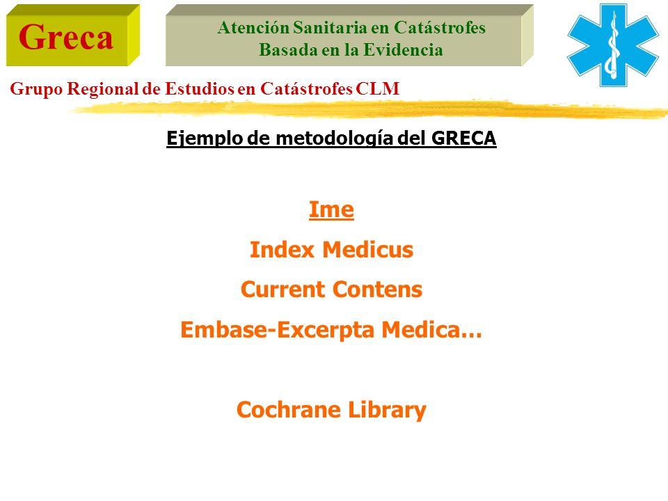 Ejemplo de metodología del GRECA Embase-Excerpta Medica…