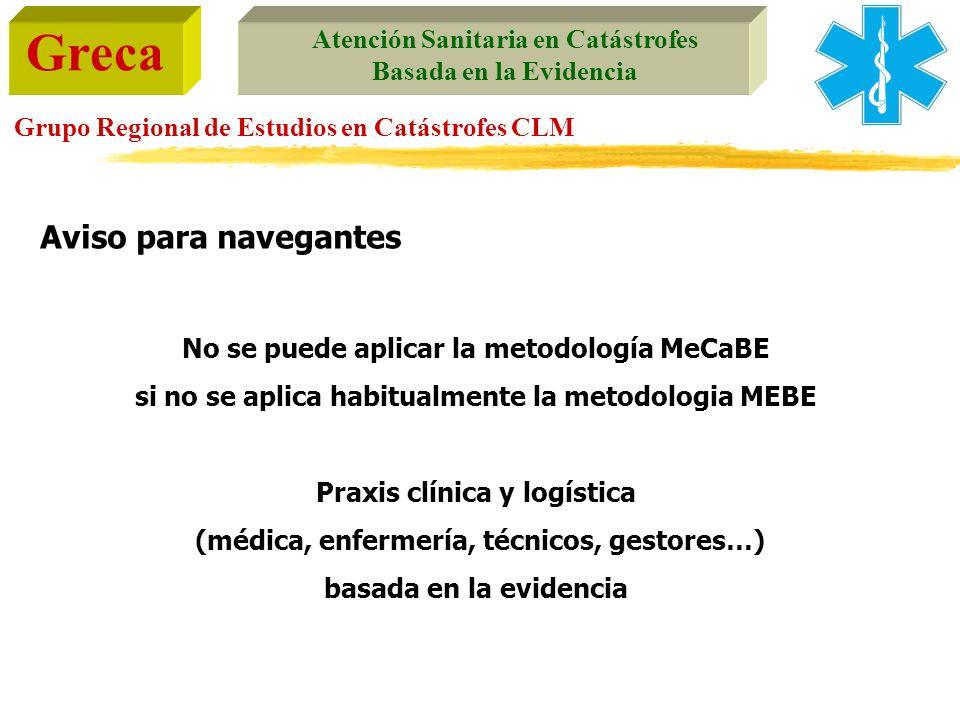Aviso para navegantes No se puede aplicar la metodología MeCaBE