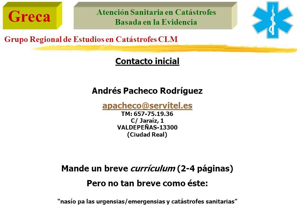 Andrés Pacheco Rodríguez Mande un breve currículum (2-4 páginas)