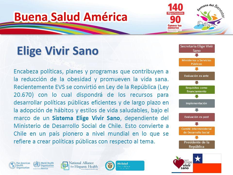 Elige Vivir Sano Secretaria Elige Vivir Sano. Ministerios y Servicios Públicos. Evaluación ex ante.