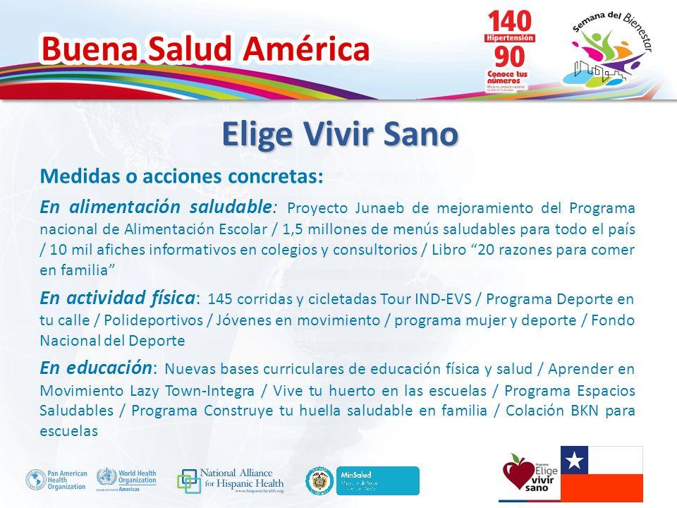 Elige Vivir Sano Medidas o acciones concretas: