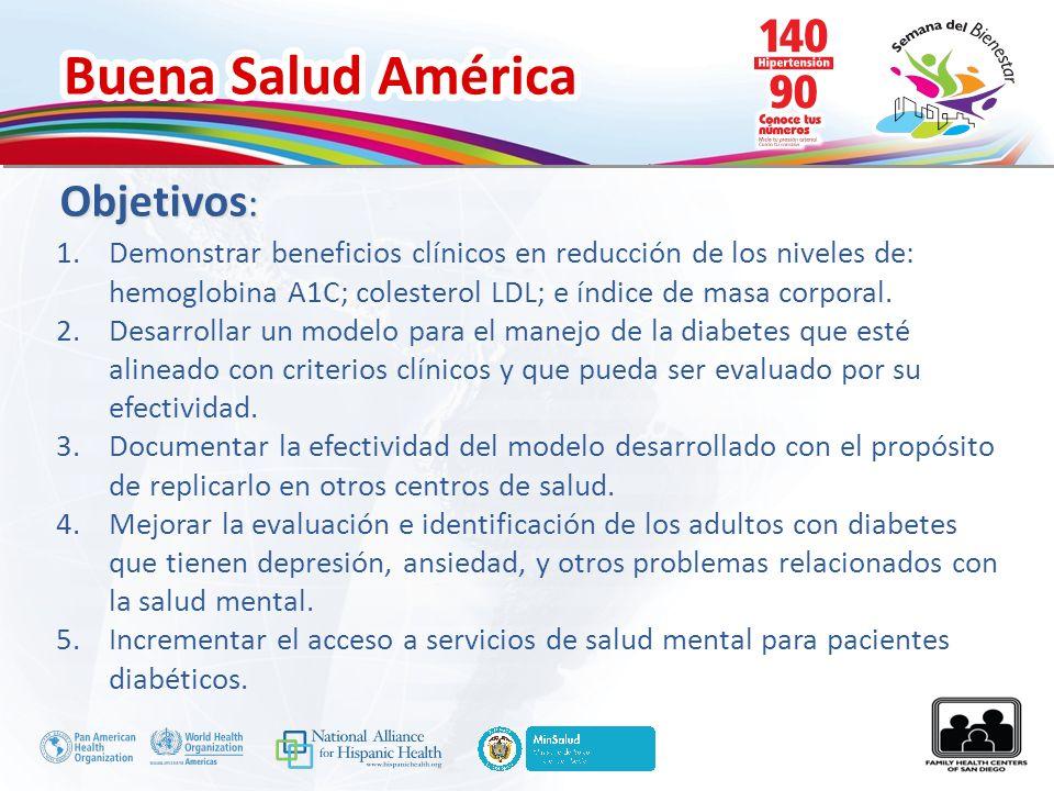 Objetivos: Demonstrar beneficios clínicos en reducción de los niveles de: hemoglobina A1C; colesterol LDL; e índice de masa corporal.