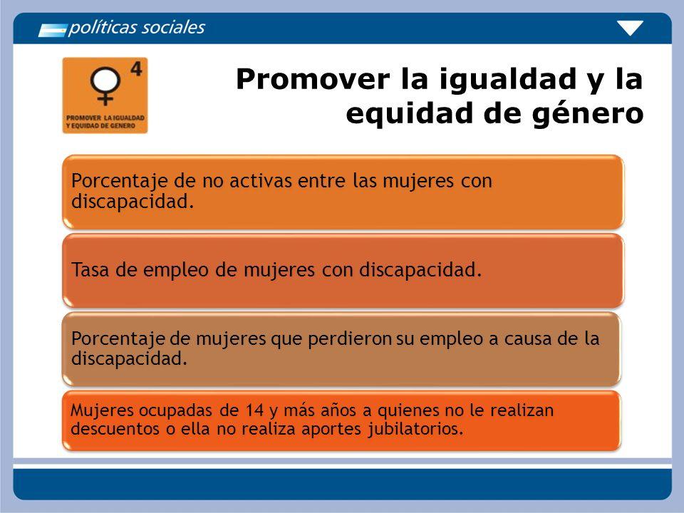 Promover la igualdad y la equidad de género