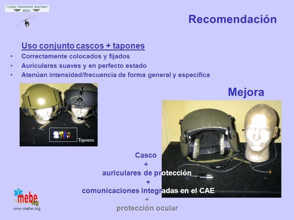 auriculares de protección comunicaciones integradas en el CAE