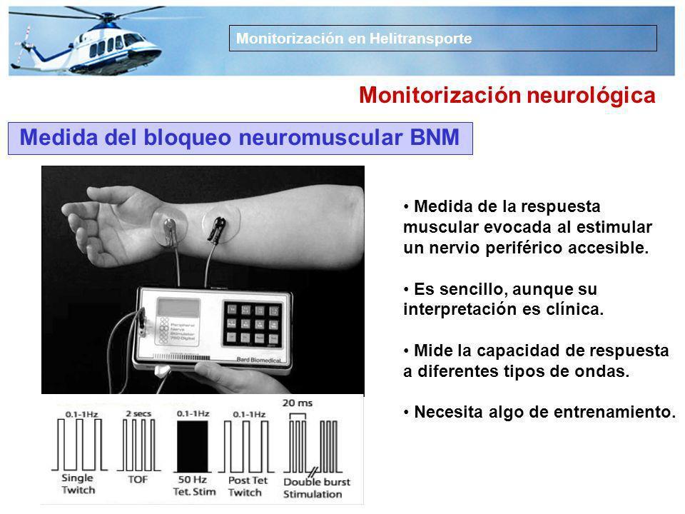 Monitorización neurológica Medida del bloqueo neuromuscular BNM