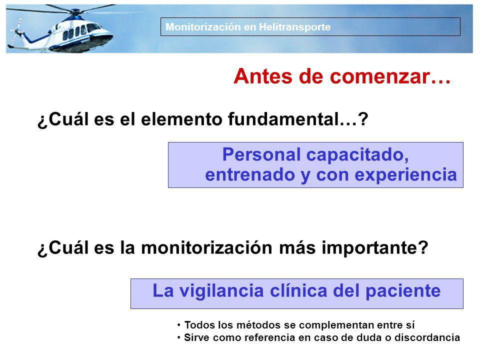 La vigilancia clínica del paciente