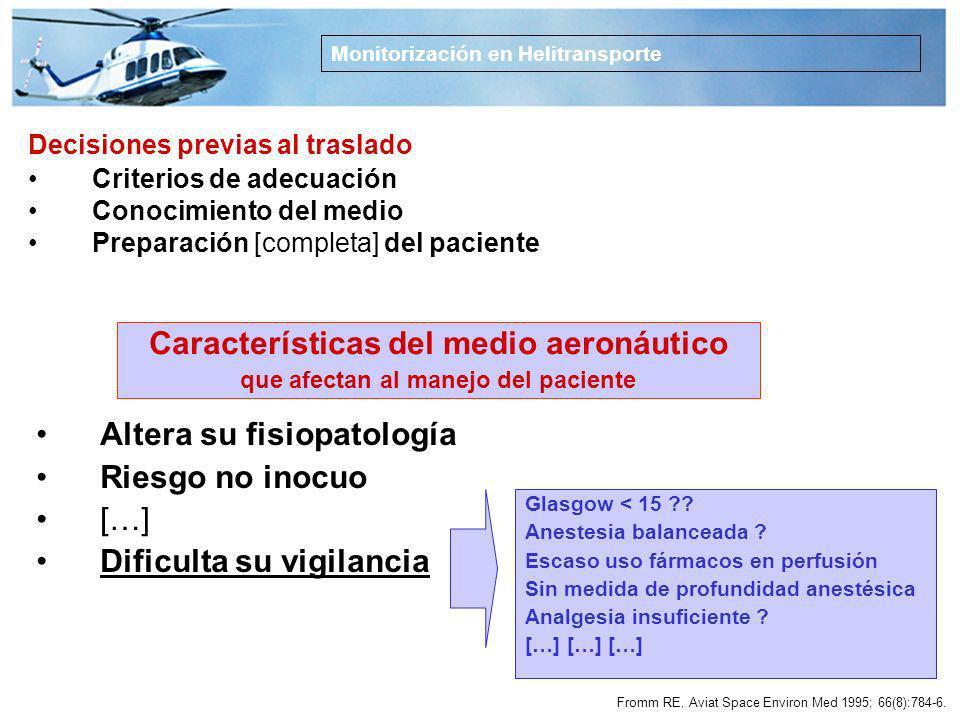 Características del medio aeronáutico