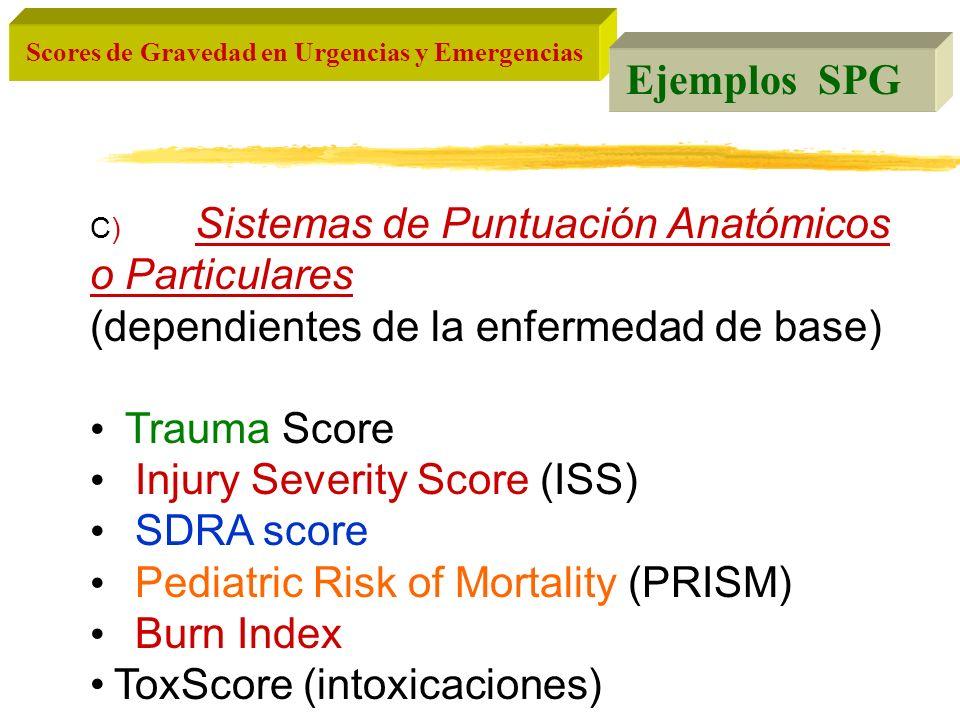 (dependientes de la enfermedad de base) Trauma Score