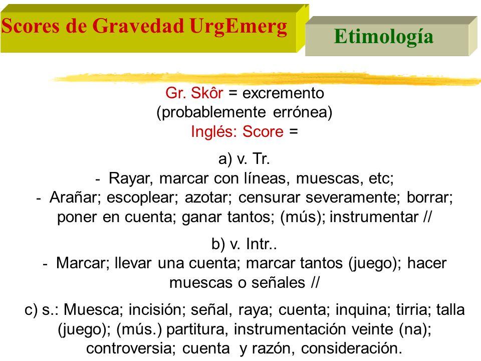Scores de Gravedad UrgEmerg Etimología