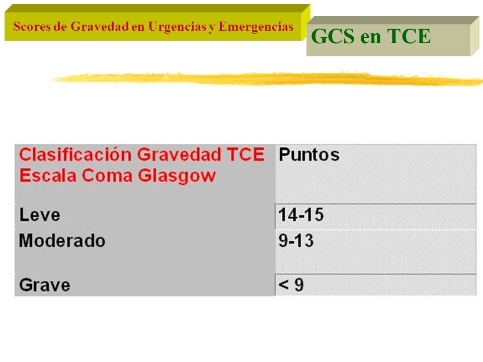 GCS en TCE