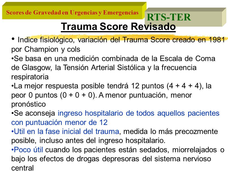 RTS-TER Trauma Score Revisado