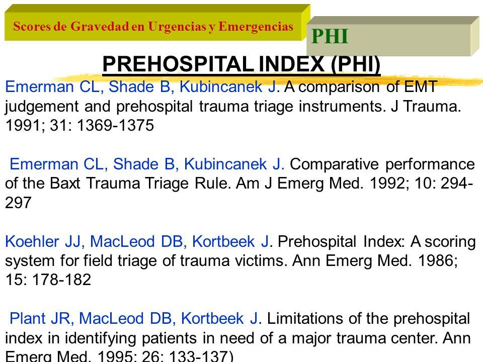 PREHOSPITAL INDEX (PHI)