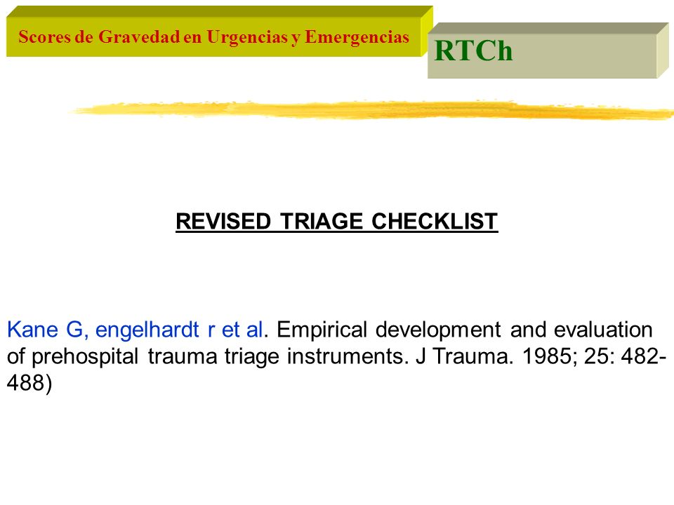 REVISED TRIAGE CHECKLIST