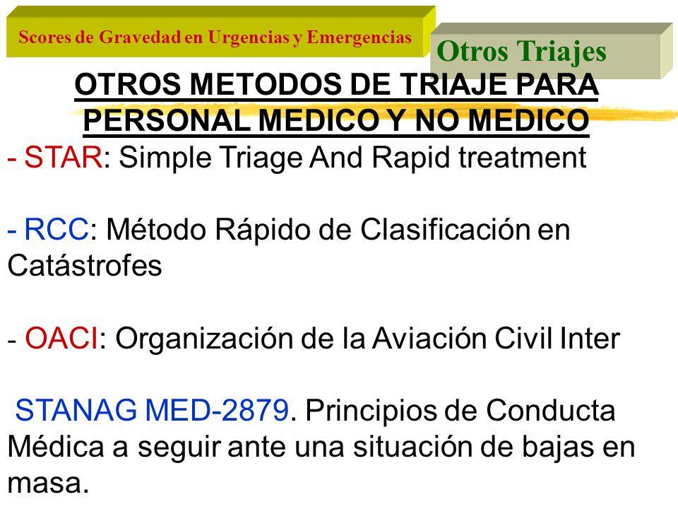 OTROS METODOS DE TRIAJE PARA PERSONAL MEDICO Y NO MEDICO