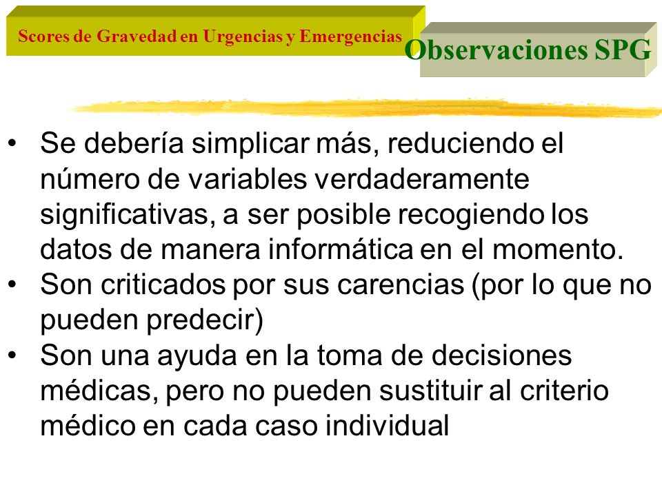 Observaciones SPG