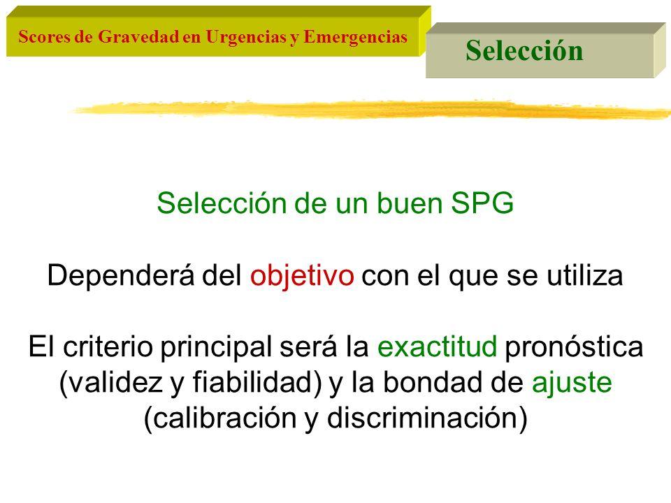 Selección de un buen SPG Dependerá del objetivo con el que se utiliza