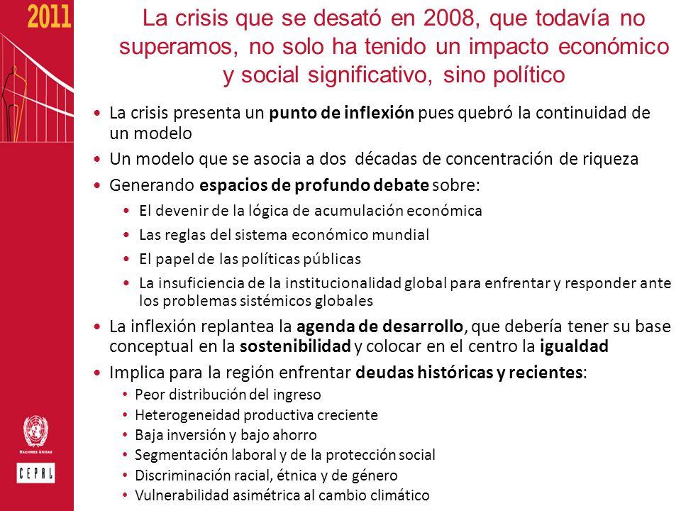 La crisis que se desató en 2008, que todavía no superamos, no solo ha tenido un impacto económico y social significativo, sino político