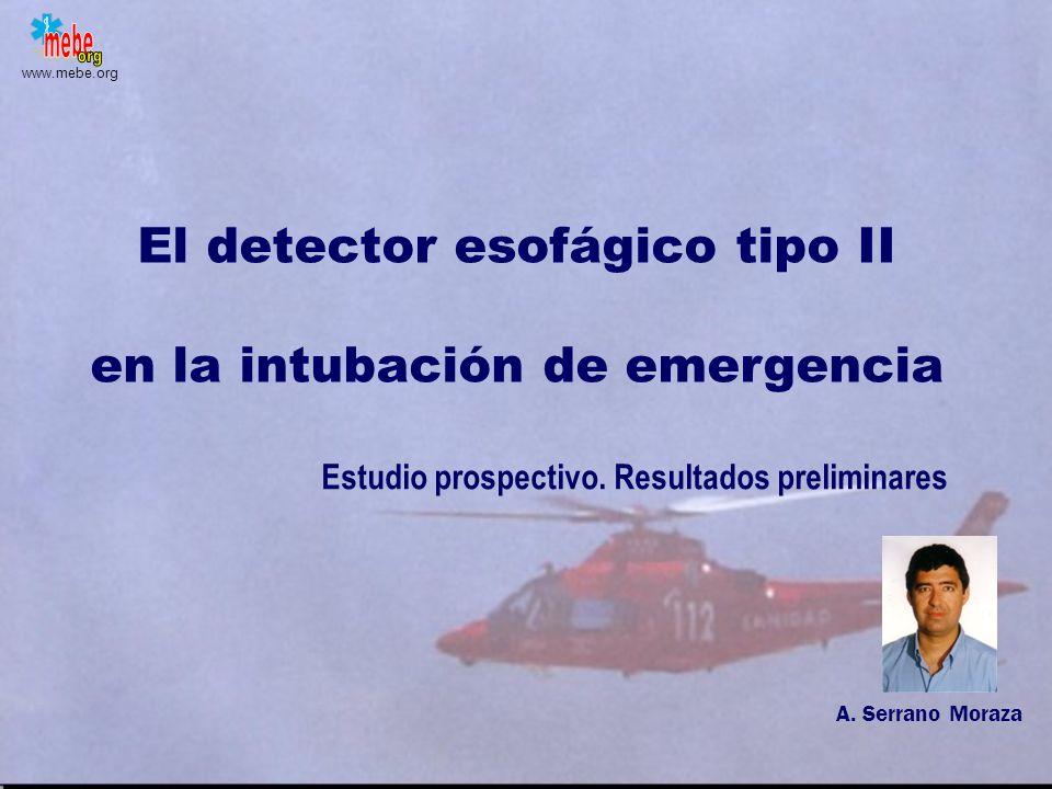 El detector esofágico tipo II en la intubación de emergencia