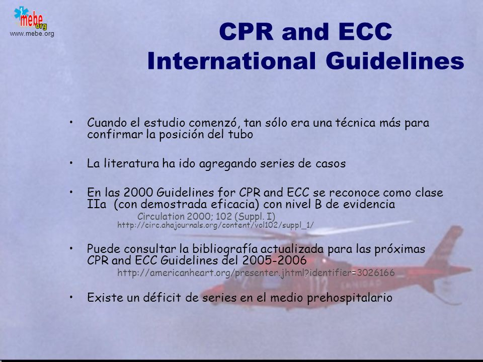 CPR and ECC International Guidelines
