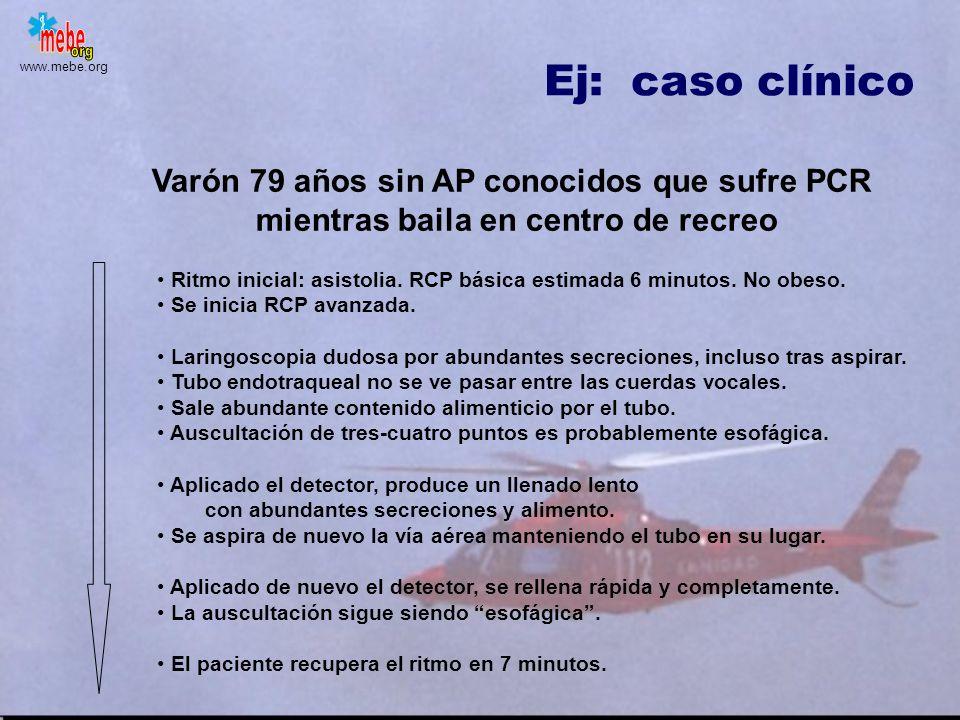 Ej: caso clínico Varón 79 años sin AP conocidos que sufre PCR