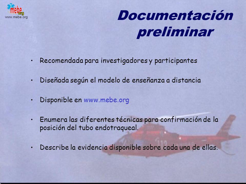 Documentación preliminar