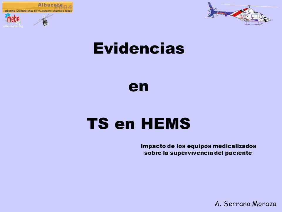 Evidencias en TS en HEMS