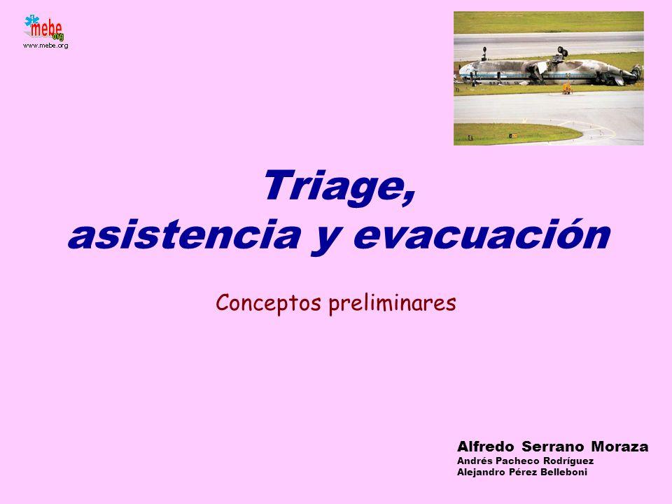 Triage, asistencia y evacuación