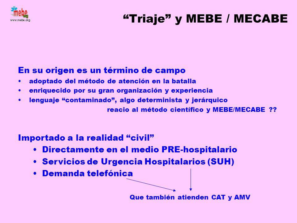 Triaje y MEBE / MECABE