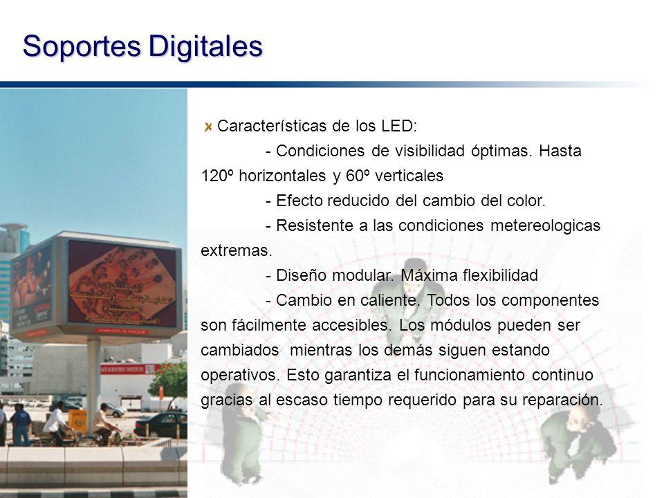 Soportes Digitales Características de los LED: