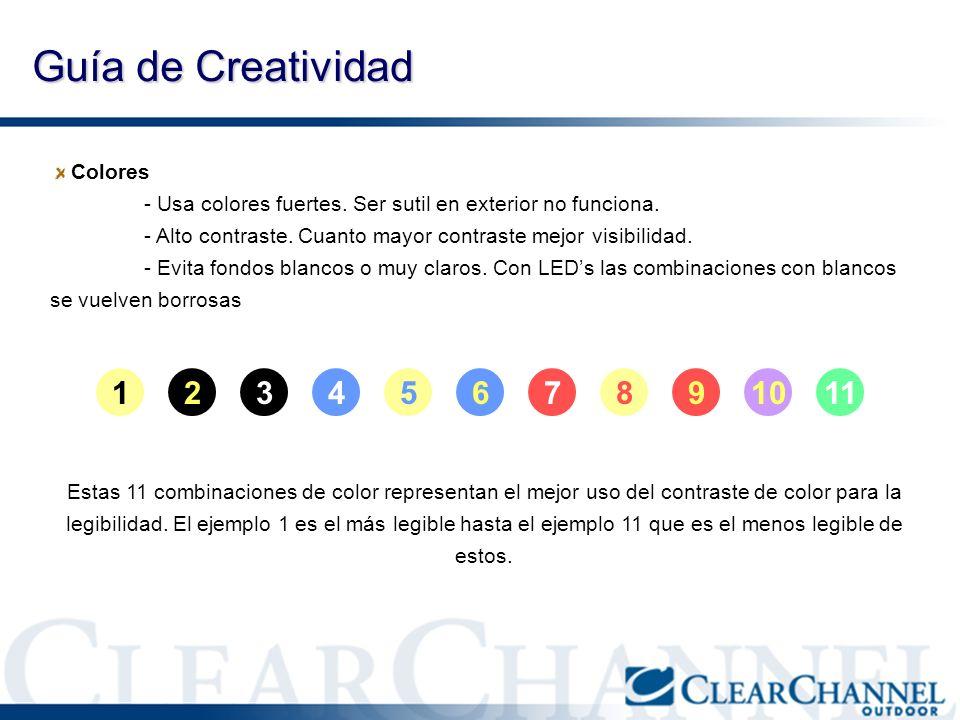 Guía de Creatividad 1 2 3 4 5 6 7 8 9 10 11 Colores