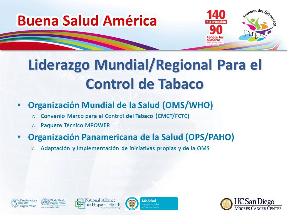 Liderazgo Mundial/Regional Para el Control de Tabaco