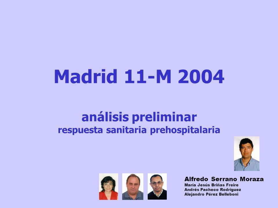 Madrid 11-M 2004 análisis preliminar respuesta sanitaria prehospitalaria