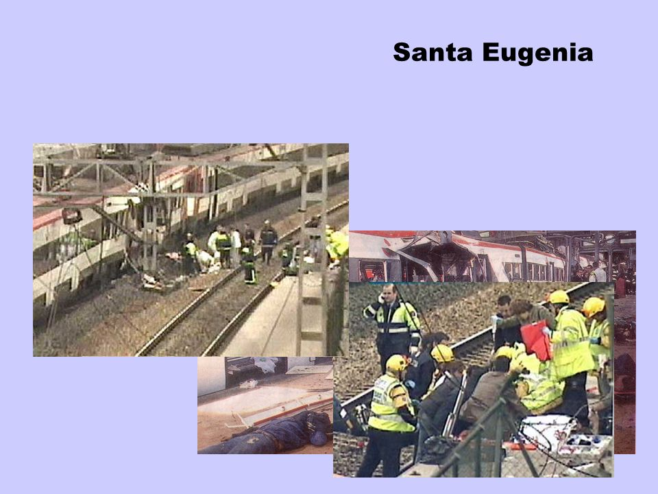 Santa EugeniaSanta Eugenia, a residential area, is five kilometers far from Madrid, what delayed first assistances.