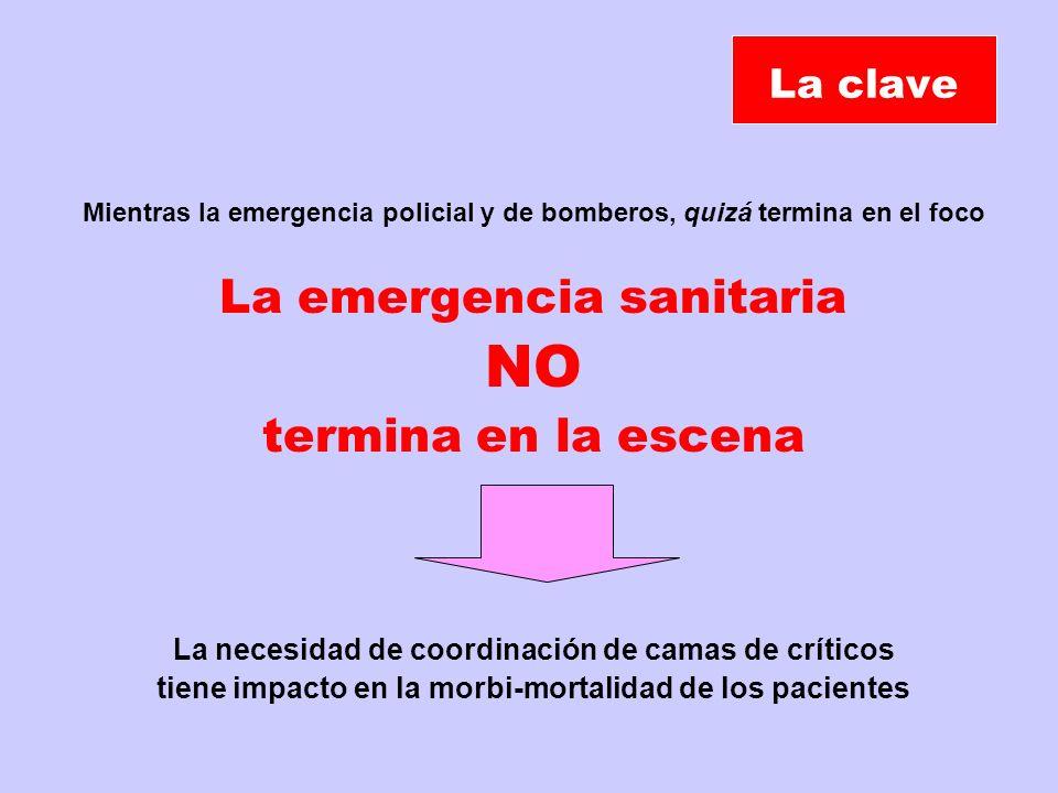 NO La emergencia sanitaria termina en la escena La clave