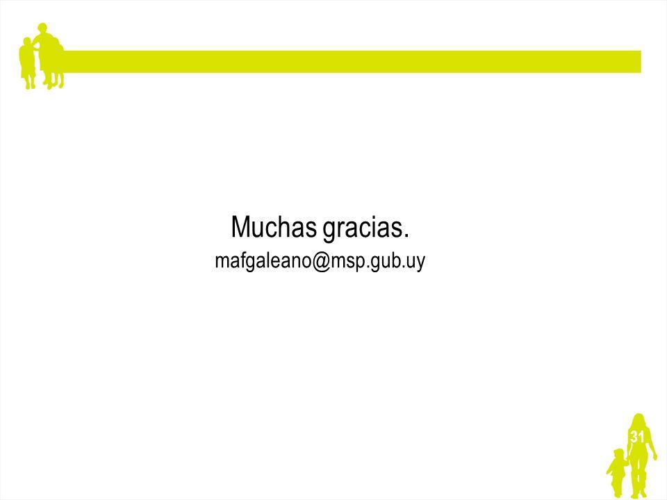 Muchas gracias. mafgaleano@msp.gub.uy