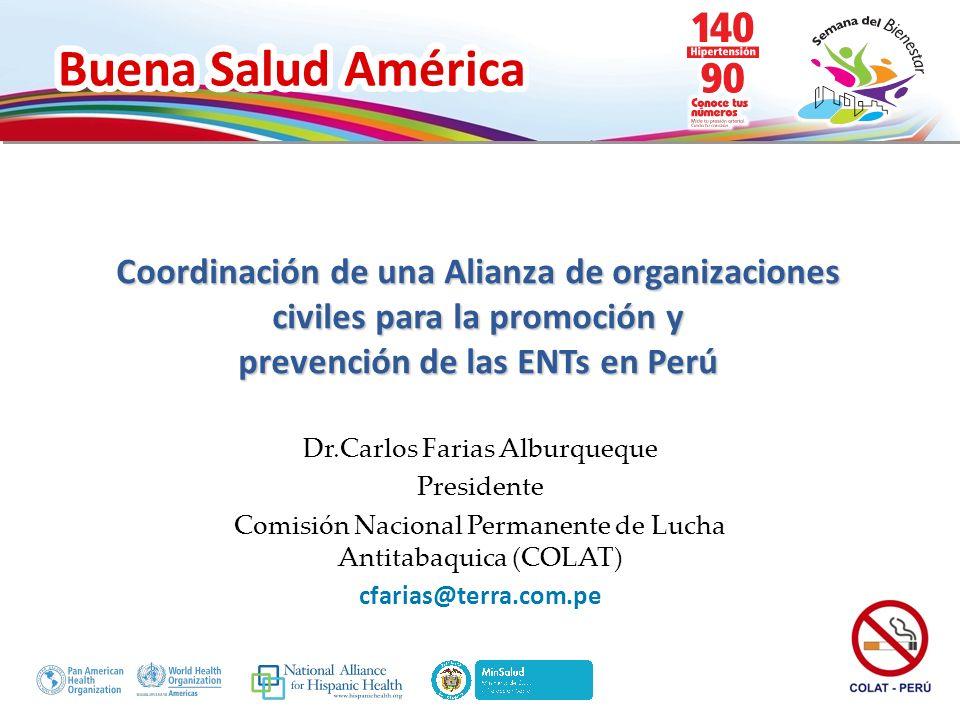 Coordinación de una Alianza de organizaciones civiles para la promoción y prevención de las ENTs en Perú