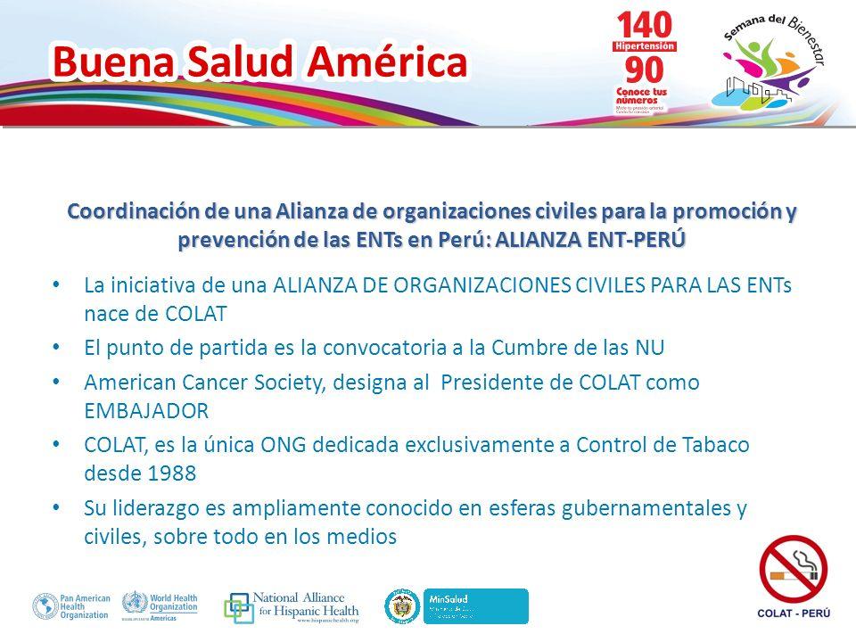Coordinación de una Alianza de organizaciones civiles para la promoción y prevención de las ENTs en Perú: ALIANZA ENT-PERÚ