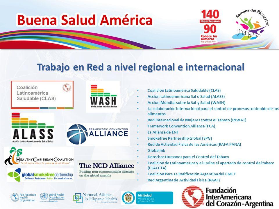 Trabajo en Red a nivel regional e internacional