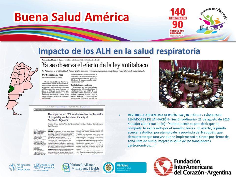 Impacto de los ALH en la salud respiratoria