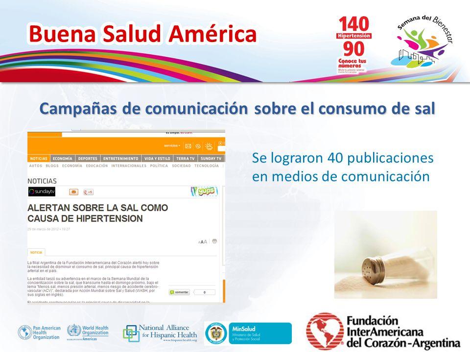 Campañas de comunicación sobre el consumo de sal