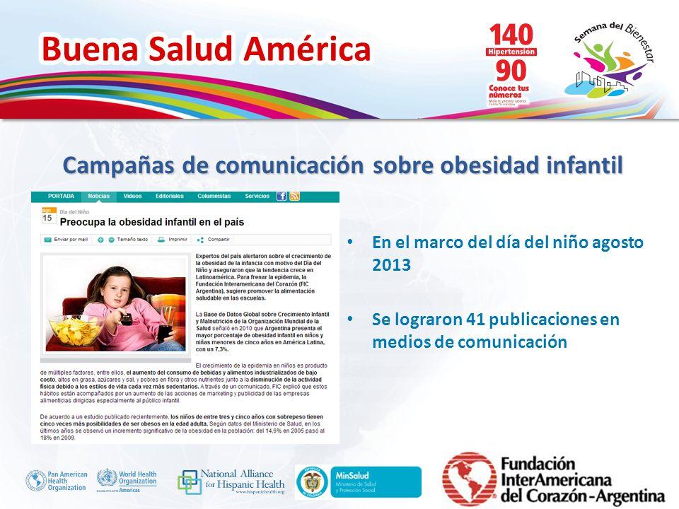 Campañas de comunicación sobre obesidad infantil