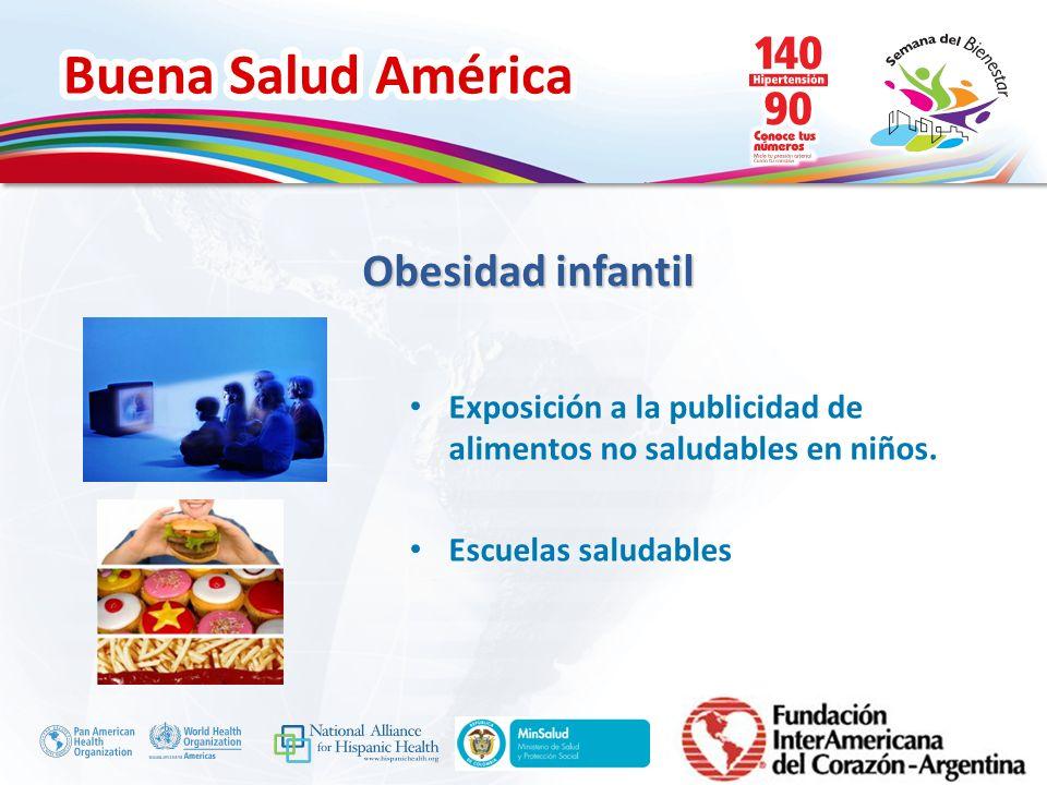 Obesidad infantil Exposición a la publicidad de alimentos no saludables en niños. Escuelas saludables.