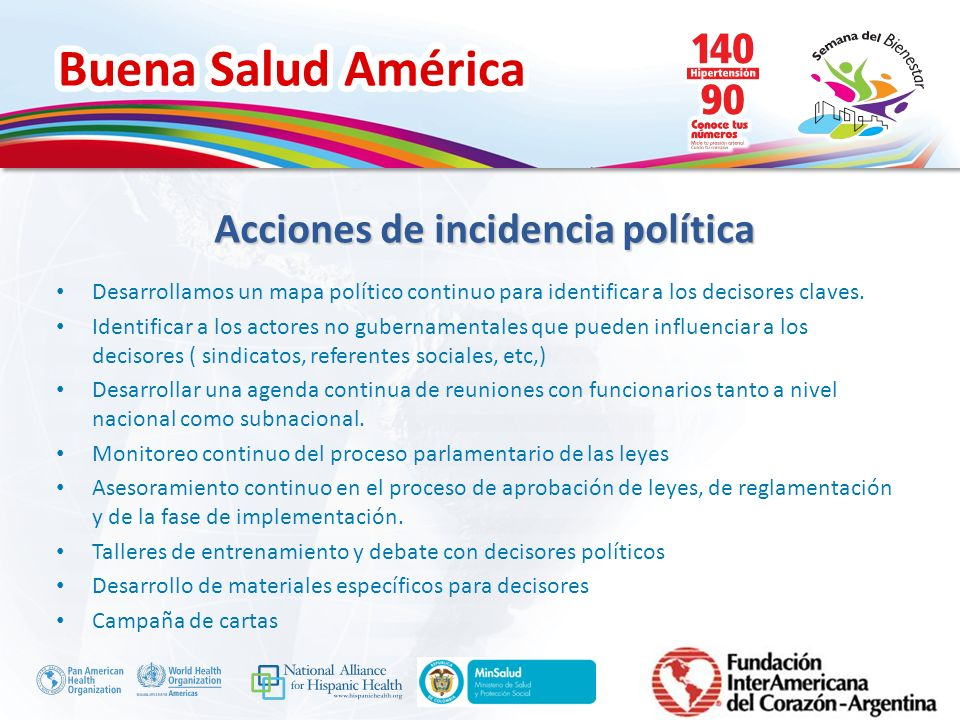 Acciones de incidencia política